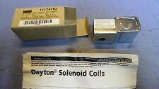 1 – Dayton 2A203 Solenoid Valve Coil, 24 VAC, Class H.  NEW in Box
