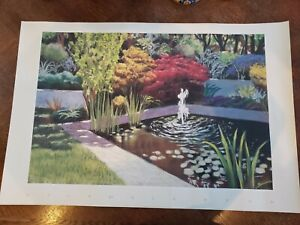 "Gorgeous Victoria Ryan Quiet Pool I 1999 Large Vintage Poster Print 36x24"""