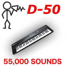 57,500+ Roland D-50 D-550 D-05 Sound Library - Cards Programs Patches - D0wnload