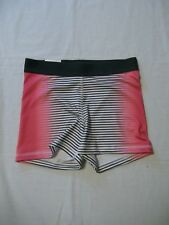 So Exercise Shorts Size Small Girl's Elastic Waist Gray Pink Striped New Tags