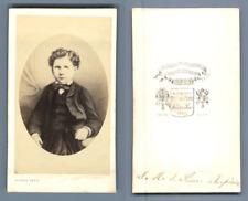 Pierre Petit, Paris, Louis-Napoléon Bonaparte, prince Impérial CDV, Vintage albu