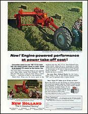 1954 New Holland Hay Baler 66 PTO Farming farmer retro photo print ad S32