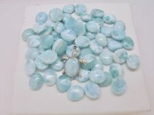 GENUINE LARIMAR 10x12mm CALIBRATED OVAL SHAPE 100% NATURAL, (LOT OF 10 STONES)