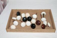 Lot of 20 Antique Pprvelain Black, White and Brown Door Knobs