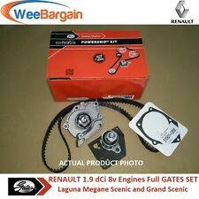 RENAULT Laguna II Megane II Scenic II 1.9 dCi GATES Timing Belt Kit Water Pump