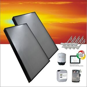 🔥 Flachkollektor Solaranlage Sonnenkollektor Solarkollektor Kollektoren Boiler