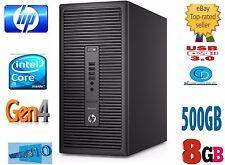 HP TOWER i5 PRO 400 G1-4TH GEN  8GB 500 HD-3.20GHZ.4570.WIN 10 PRO-USB 3,DVD+RW