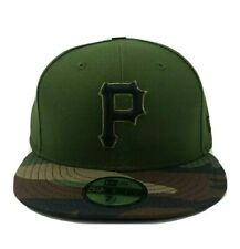 New Era Pittsburgh Pirates  fitted Camouflage 59FIFTY Hat/Cap Made In USA