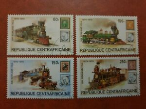 Central African Republic- 1979 - Death Cen Sir Rowland Hill - 4 stamps  - CTO