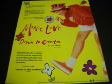 MONIE LOVE Down To Earth with MONIE IN THE MIDDLE 1990 PROMO POSTER AD mint cond