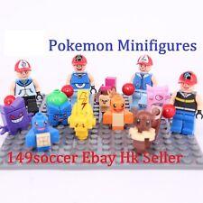 8PCS POKEMON GO Mini Figures Legoings PIKACHU POKEBALL Building Blocks Toys