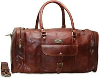 All Size genuine gvb Leather large Duffle travel weekend overnight Bag handmade