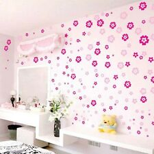 108pcs Wall Sticker DIY Red Flowers Art Removable Mural Decal Vinyl For Kid Room