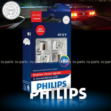 PHILIPS P21/5W LED X-treme Ultinon LED intense Red 1157 tail stop bulbs 12899RX2