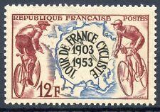 STAMP / TIMBRE FRANCE  N° 955 ** TOUR DE FRANCE CYCLISTE 1953