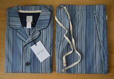 PAUL SMITH blue Signature Stripe striped pyjamas 2 PIECE SET top & bottoms XL