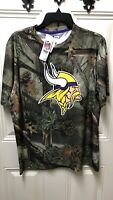 Minnesota Vikings Logo  NFL Team Apparel Men's Camo Short Sleeve T-Shirt L Y3758