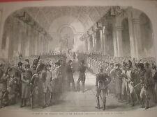 Te Deum en Ligne París Francia Centenario Napoleón I 1869 Print