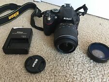 Nikon D D5200 24.1MP Digital SLR Camera w/ AF-S DX G VR 18-55mm Lens + wide lens