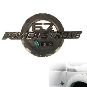 Black B20 6.7L Power Stroke Turbo Diesel Door Emblem Badge for F-250 350 450 550