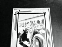Reverse Painting Frame Glass Art Deco Vintage Mid Century 10x12 Farmhouse Photo