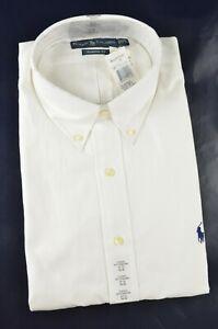 New Polo Ralph Lauren Men's Classic Fit Herringbone Textured Cotton Dress Shirt
