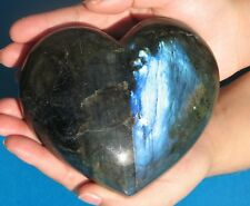 X Large Carved Labradorite Heart  1260g Rare Collectable (LH7)