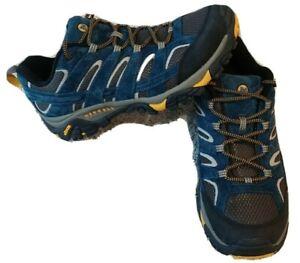 Merrell Men's Moab 2 Ventilator Hiking Shoes Size 13 J49061 Blue Lace Up Low Top