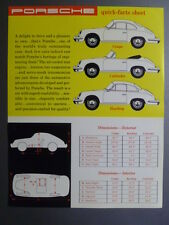 "1961 Porsche 356 B ""Quick Facts Sheet"" MM 212 Showroom Sales Sheet RARE! Awesome"