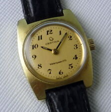 LADIES VINTAGE SWISS CERTINA MANUAL WIND KF19-30 PLAQUÉ GOLD CASE 22,5 MM