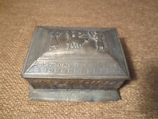 ANTIQUE VINTAGE BARBOUR S.P.CO SMALL BOX EGYPTIAN RELIEF SCENE