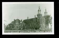 1950's RPPC St Boniface Church & Parish Melrose MN Real Photo Postcard  B17
