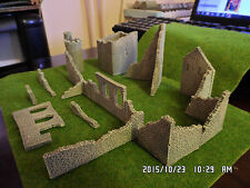 n gauge n scale railway train set layout classic brown ruins