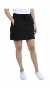 Jones New York Women's Black Skort With Pockets Casual Comfy 1372074