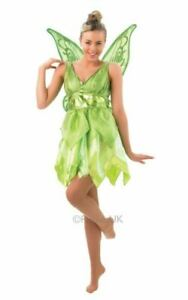 Peter Pan Pixie Fairy Tinkerbell Ladies Fancy Dress Costume Outfit Adult Disney