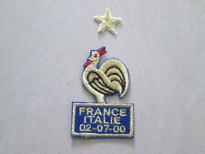 Patch coq pour maillot équipe de France Finale Euro 2000 Flocage football shirt