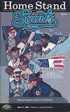 2008 St. Paul Saints vs. Grand Prairie AirHogs Minor League Baseball Program