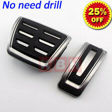 No drilling DSG AT Fuel Brake Pedals Plate Covers For A3 S3 (8V) 2013 2014 2015