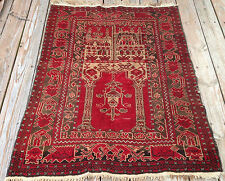 Vintage Afghan Hand Knotted Antique 100% Wool Persian Turkish Prayer Rug 3x4