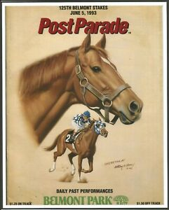 "1993 - SECRETARIAT - Belmont Stakes Program Cover Photo - 8"" x 10"""