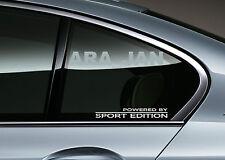 2 - POWERED BY SPORT EDITION Racing Sport Vinyl Decal sticker logo window WHITE