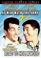 AT WAR WITH THE ARMY / ROAD TO HOLLYWOOD {DVD-2 Films} Jerry Lewis-Martin (NEW!)