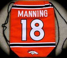 Peyton Manning Denver Broncos jerseyTeam Logo Drawstring Backpack