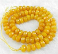 5x8mm Natural Faceted Topaz Abacus Gemstones Loose Beads Yellow Jade 15""