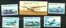 Congo #1067-71A  MNH Seaplanes Aviation Airplanes Complete Set of 6