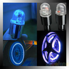 1 Pair Motor Cycling Bike Bicycle Car Tyre Tire Valve Blue LED Wheel Lights BC4U