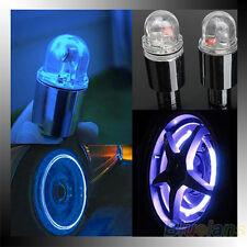 1 Pair Motor Cycling Bike Bicycle Car Tyre Tire Valve Blue LED Wheel Lights BC4U