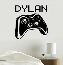 Video Game Personalized Gamer Tag Joystick Vinyl Sticker Decal For Room Bedroom