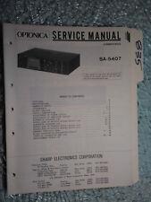 Optonica Sharp SA-5407 service manual original repair book stereo receiver tuner
