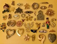 JEWELRY LOT Brooch Pin Hat Pins Gold Silver SIGNED Avon Sarah Cov Germany LOCKET